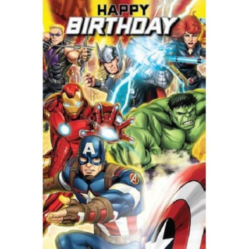 avengers birthday card  thomas online