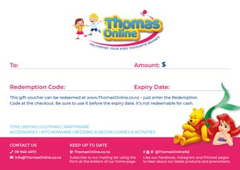 Thomas Online Gift Voucher