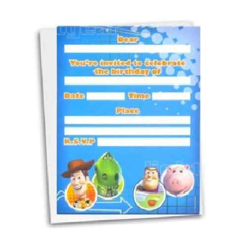 toy story invitations 8 pack